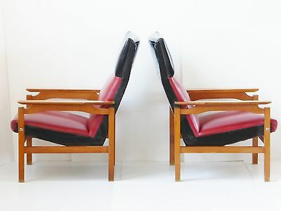 Pair Of Armchairs Scandinavian 1960 Vintage Design 60S Danish Lounge Chairs