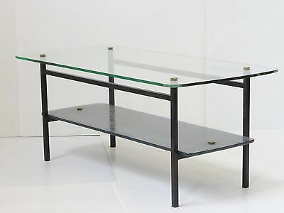 Superb Coffee Table 1950 Double Plate Vintage 50's Rockabilly Atomic Table