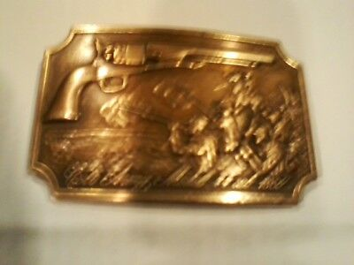 Vintage Colt Army Model 44 Cal. Revolver 1860 Brass Belt Buckle 2Nd Edition
