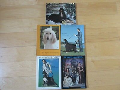 Afghan Hound Review Magazines, 5 Issues 1982