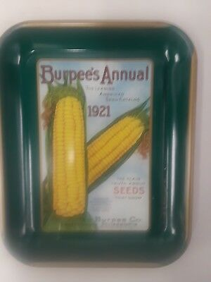 Burpee Annual Seeds Reproduction Tin Tray Heavy Duty