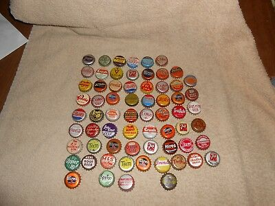 Vintage Used--Lot of 66--Soda Pop Cork-lined Used Bottle Caps