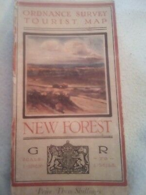 Ordnance survey map new forest 1920