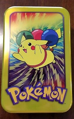 Pokemon Topps Pikachu Tin with Assortment of Cards (see description)