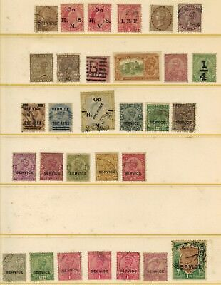 Lot of India  Official Stamps Used/MH