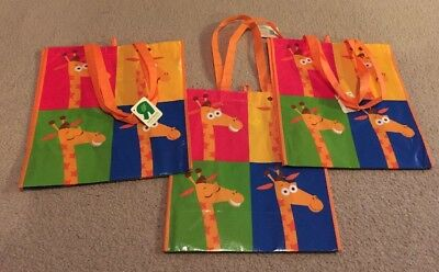 Toys R Us - GEOFFREY Giraffe Exclusive Reusable Shopping Tote Bags LOT OF 3