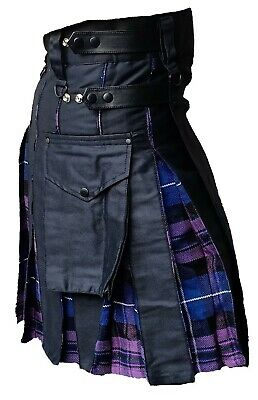 Men's Hybrid Leather Straps, Cotton & Tartan (Pride Of Scotland) Utility Kilt