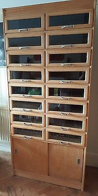 Vintage Haberdashery Unit Cabinet 16 drawers (Stripped & sanded)