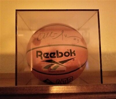 Allen Iverson Signed Autographed Reebok Full Size NBA Basketball Philly 76ers