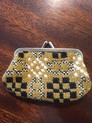 60's 70's Real Welsh Tapestry Woolen Purse