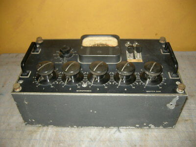 Vintage Western Electric 22D Tube Pre Amp Mixer