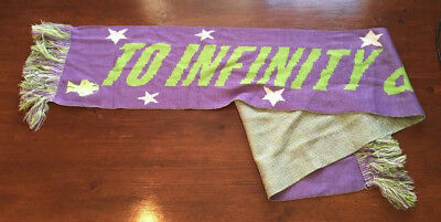 To Infinity And Beyond Buzz Lightyear Purple Disney Toy Story Winter Scarf s00