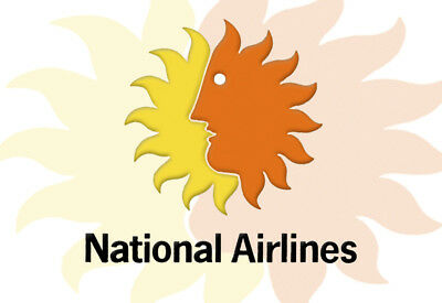 """National Airlines Logo Fridge Magnet 3.25""""x2.25"""" Collectibles (LM14062)"""