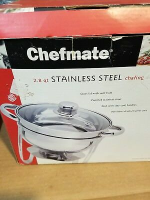 Chefmate 2.8 Quart Stainless Steel Chafing Dish