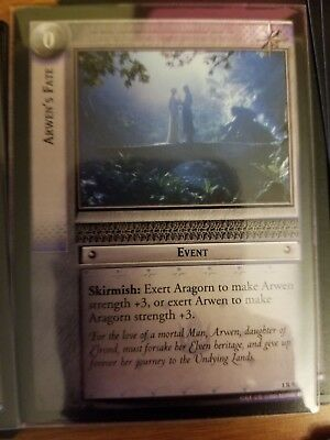 Lord of the Rings TCG Fellowship 1R93 Arwen's Fate CCG LOTR