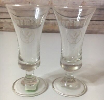 Jagermeister Collectible Stemmed Shot Glasses Lot of Two (2) 2cl