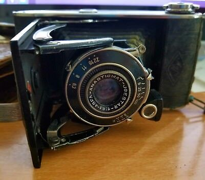 Vintage German Art Deco Agfa Billy Record Roll Film Camera 1936