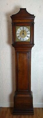 18th Century Single Finger Brass Faced Longcase  Clock Sillito Uttoxeter