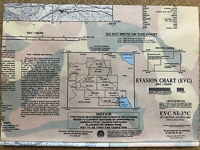 US Military Evasion Chart - NI-37C - Jordan, Iraq, Syria (1st Edition Aug 2002)