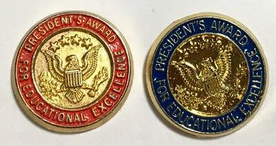 2-Presidential Award for Educational Excellence Pins, 1 Red  & 1 Blue