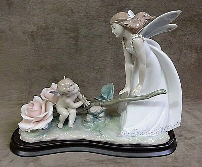 "Lladro ""summer Rhythm"" - Limited Edition, Fairy, Nymph, Roses, Orig Box, 8293"