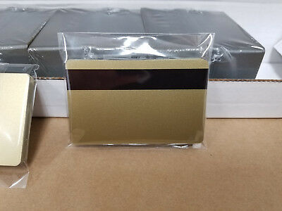 Gold PVC Cards w/ HiCo 3 Track Magnetic Stripe - CR80.30 mil - Pack of 10 Seal