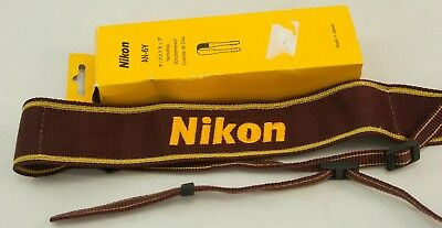 Nikon AN-6Y burgundy Camera Shoulder strap for SLR DSLR - Boxed Near MINT