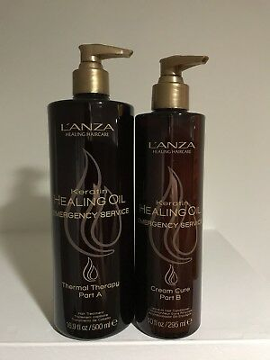 Lanza Keratin Emergency Service Thermal Therapy Part A & Cream Cure Part B