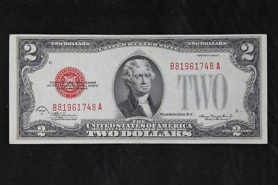 $2 1928C CU large red seal US Note B81961748A two dollar series C, FREE SHIP.