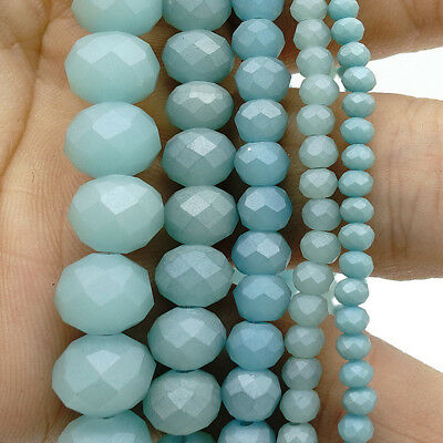 2018 new Rondelle Faceted Crystal Glass Loose Spacer Scrub Beads 3/4/6/8/10mm #5