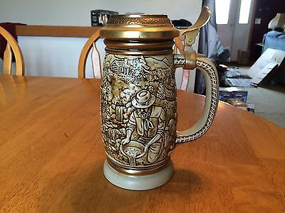 Avon The Gold Rush Stein Handcrafted in Brazil New
