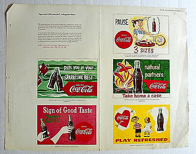 1954 Coca-Cola Instructions For Special Pictorial Adaptations Wall Design Page