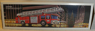 1986 Hess Toy Fire Truck Bank ~ Rare Gold Grills & Red Switches ~Adult Collector