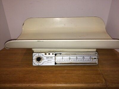 VINTAGE 1940s Stork Baby Scale Health O Meter 30 Pounds Nursery
