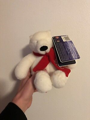 2007 Coca Cola Company Collectible Plush Polar Bear With Tags Coke New with Tags