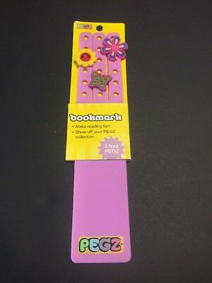 Purple PEGZ Bookmark Charms For Croc Jibbitz Type Shoes Wristband Girl Reading