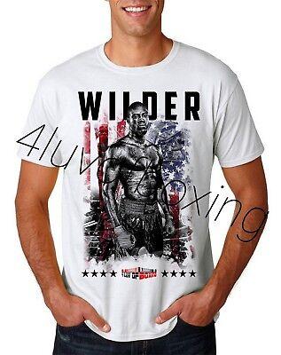 4716a72bc95d Deontay Wilder Boxing WH Tee new 4LUVofBOXING Bronze Bomber HW Champ Bomb  Squad