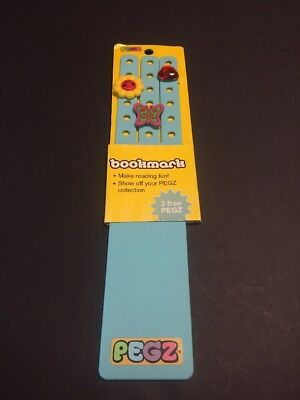 Blue PEGZ Bookmark Charms For Croc Jibbitz Type Shoes Wristband Girl Reading