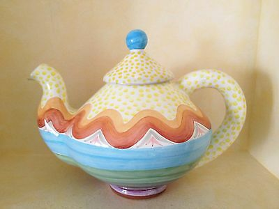 Mackenzie Childs Taylor Teapot - Brittany Pattern