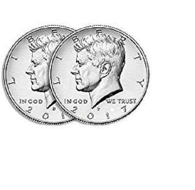2017 P and D-BU UNCIRCULATED Kennedy Half Dollar Set-PD from -IN STOCK