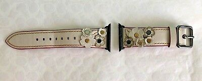 COACH Apple Watch 38mm Band Strap with Tea Rose ~ W6132