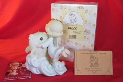 """Precious Moments """"Fountain Of Angels"""" #384844 MIB 1997 Girl, Chapel Exclusive"""
