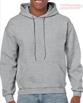 Sports Grey Gildan Plain Hooded Heavy Blend Sweatshirt Pullover mens hoodie