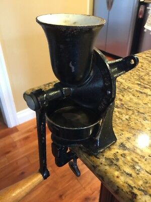Spong & Co. Ltd. England No.1 Wall Crank Cast Iron Coffee Mill Grinder