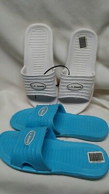 2 Pairs Shower Shoes Size 6 Gym & Pool Must Slip On Foot Proctive Wear NWOT