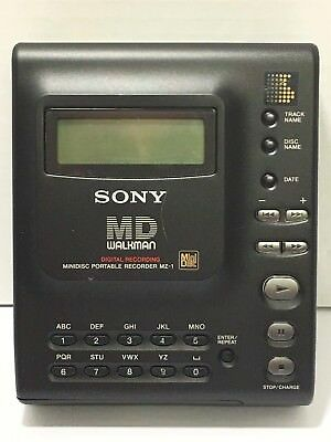 Sony MD Walkman MZ-1 with (11) Recordable Discs (2) Extra Batteries Car Adapter