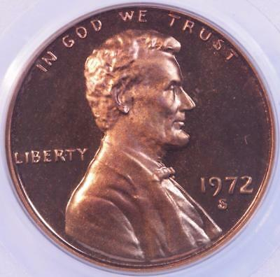 1972 S Proof Lincoln Cent, Pcgs Pr67Dcam, Deep Liquid Red Fields, White Cameo!