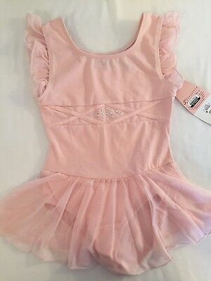 NWT (6/6X) Danskin Girls Adorable Pink Leotard Designed For Comfort
