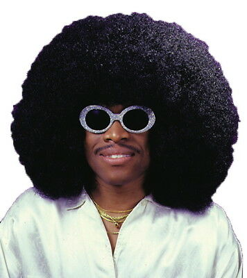 Super Afro Jumbo Fro 70s 80s Hippie Hippy Disco Men Costume Wig
