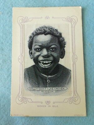Advertising Victorian Trade Card/post Card 1880's...black Americana